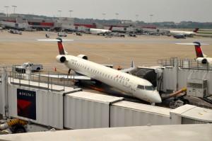 Delta aircraft in Atlanta