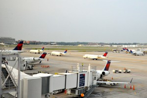 Aircraft in Atlanta prior to the storm
