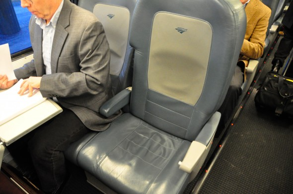 The author's seat in the Quiet Car
