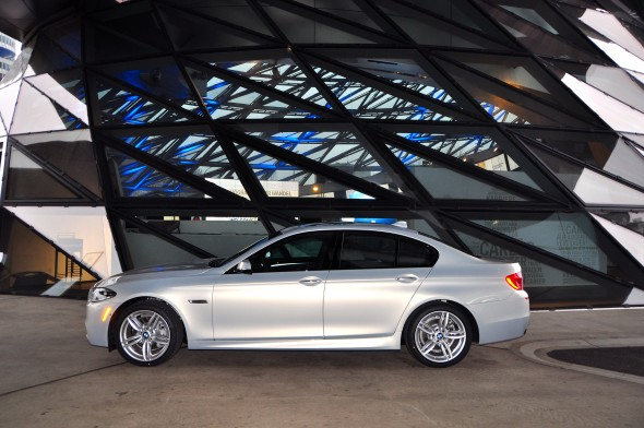The author's 2014 BMW 535d outside the BMW Welt in Munich