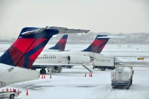 Delta aircraft at LaGuardia last week