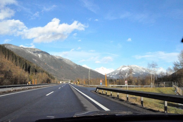 A drive through Austria planned using Google Maps