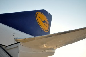Tail of a Lufthansa 747-8