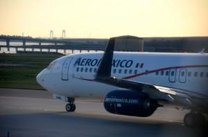 An Aeromexico plane at JFK