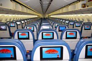 Interior of Delta 767-300ER