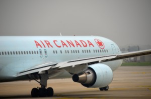 An Air Canada plane in Brussels