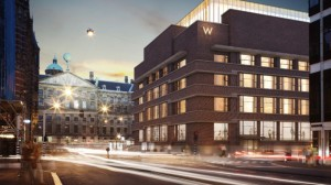 A concept of the W Amsterdam Hotel