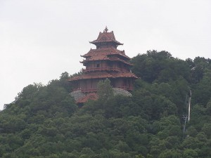 A pagoda on Wuhan's East Lake