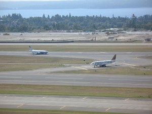 A runway at Seattle-Tacoma