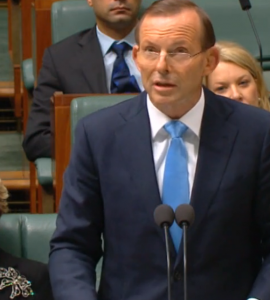 PM Tony Abbott speaking on Thursday