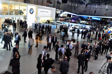 The Geneva show floor on Tuesday