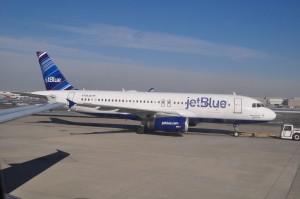 A JetBlue aircraft at JFK