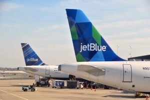 JetBlue aircraft in New York