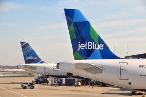 JetBlue planes at JFK