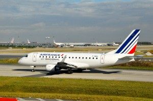 An Air France regional jet in Paris