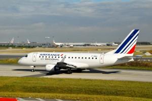 An Air France regional jet in Paris
