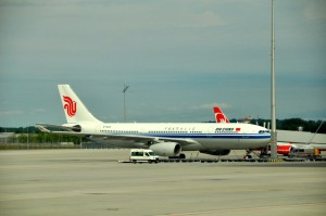 An Air China aircraft in Munich