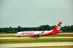 An Air Berlin plane in Munich