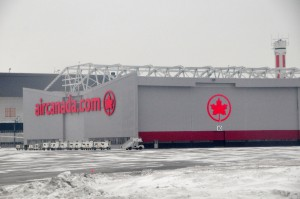 An Air Canada hangar in Montreal