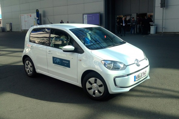 Volkswagen's e-Up shuttle at CeBit this week