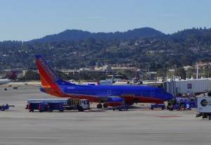 A Southwest plane in San Francisco
