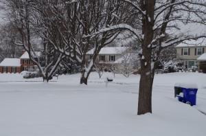 A neighborhood outside of Washington, D.C. Monday morning