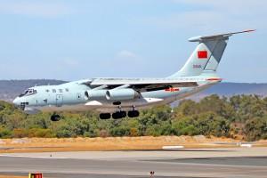 Chinese Ilyushin IL-76 arriving in Australia