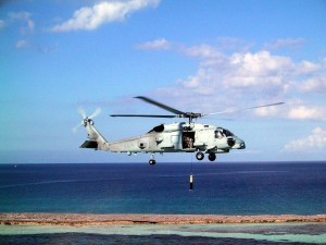 Two U.S. Navy  Sikorsky MH-60R Seahawk helicopters are part of the search
