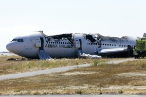 Fuselage of Asiana Flight 214 after the crash