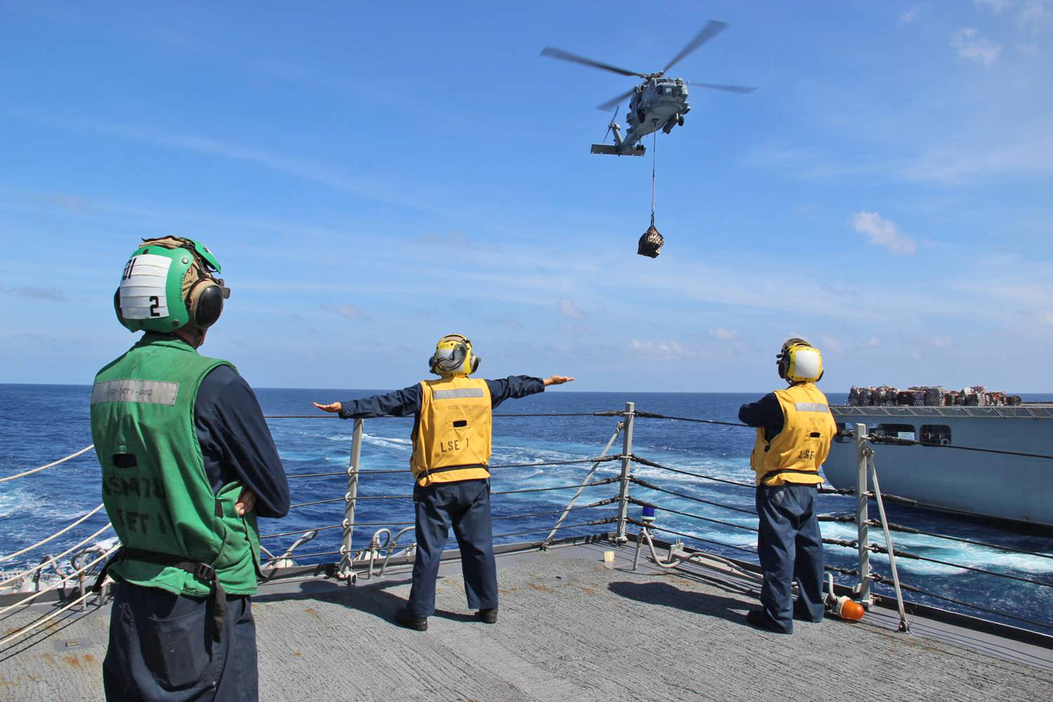 Crew on board USS Kidd searching for signs of MH370 in the Andaman Sea, a part of the Indian Ocean