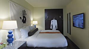 A room at the ACME Hotel Company in Chicago