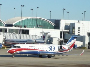 SkyWest aircraft in Chicago