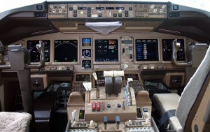 The cockpit of the missing plane, in 2004