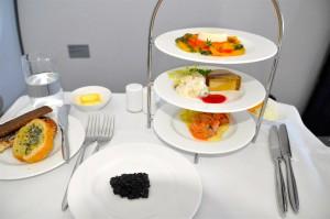 First-class meal on Lufthansa