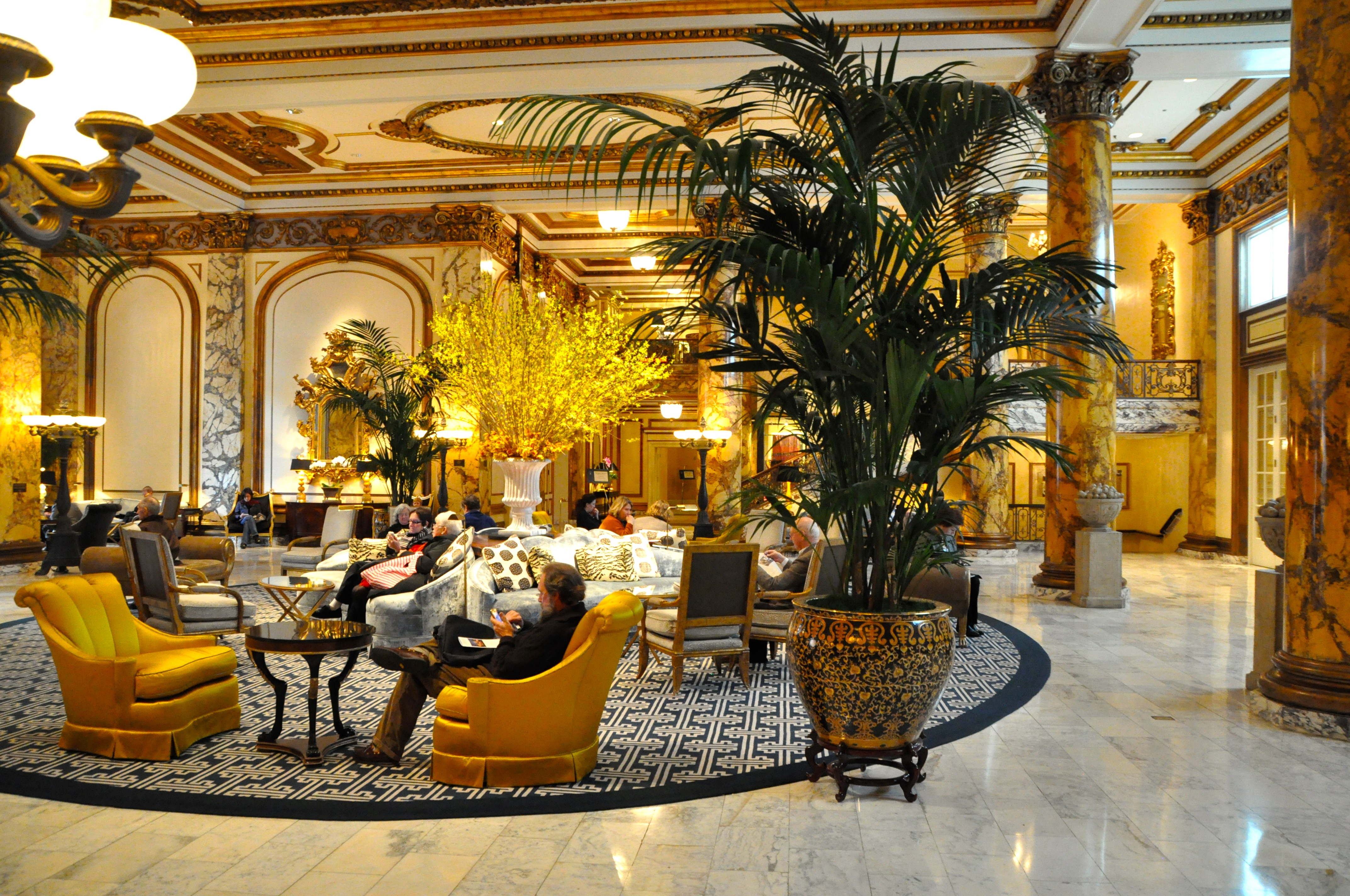 Lobby of the Fairmont in San Francisco