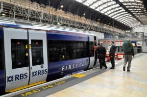 Boarding the Heathrow Express at Paddington Station