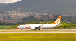 GOL aircraft at Sao Paulo International Airport