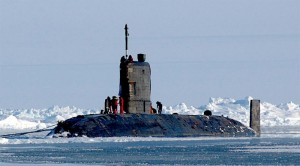 HMS Tireless at the North Pole in 2004
