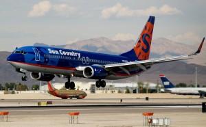 A Sun Country 737-800 in Las Vegas