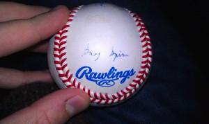 greg spira autographed baseball