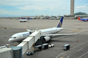 A United plane in Denver