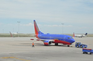 A Southwest aircraft in Denver