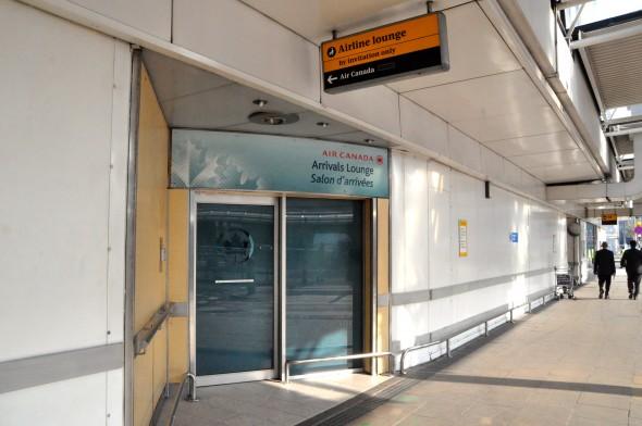 Air Canada's arrivals lounge at London-Heathrow