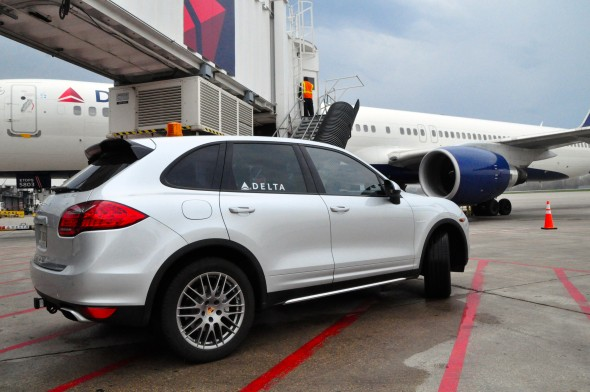 Porsche transfer at Minneapolis–Saint Paul International Airport
