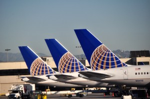 United aircraft in Los Angeles