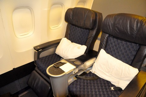First-class seats on an AA 767-200