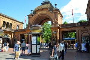 Entrance to the Tivoli Gardens in Copenhagen