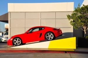 Porsche at a Hertz location