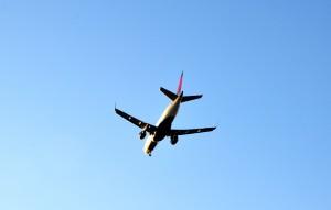 A Delta jet landing at LAX