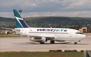 A WestJet Boeing 737-200